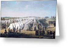 Army Camp In Rows  Greeting Card