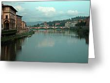 Arno River, Florence, Italy Greeting Card by Mark Czerniec