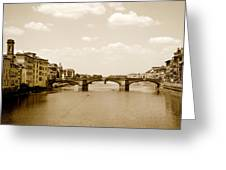 Arno River Florence Greeting Card