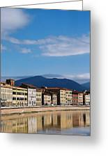 Arno River Pisa Italy Greeting Card