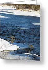 Aroostook River Below The Dam Greeting Card