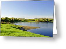 Around Barton Marina Lake Greeting Card