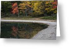 Around The Bend- Hiking Walden Pond In Autumn Greeting Card