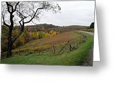 Around The Bend Greeting Card by Terry  Wiley