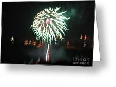 Around The Fourth Fireworks Xv Greeting Card