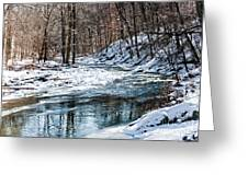 Around The Snow Bend Greeting Card