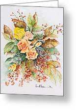Arrangement In Yellow Greeting Card
