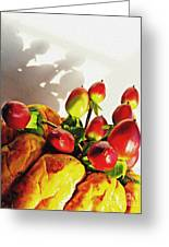 Arrangement On Squash 3 Greeting Card by Sarah Loft