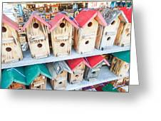 Array Of Handmade Birdhouses For Sale Greeting Card