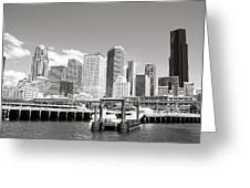Arriving Downtown Seattle Greeting Card