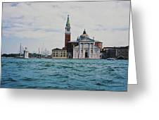 Arriving In Venice Greeting Card