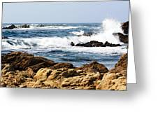 Arriving Tide At Pebble Beach Greeting Card