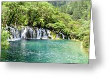 Arrow Bamboo Waterfall Greeting Card