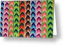 Arrow Pattern Woven Bracelets Greeting Card