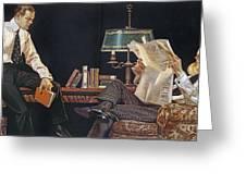 Arrow Shirt Collar Ad, 1914 Greeting Card