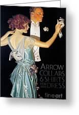 Arrow Shirt Collar Ad, 1923 Greeting Card