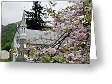 Arrowtown Church On A Rainy Day, New Zealand Greeting Card