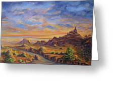 Arroyo Sunset Greeting Card