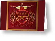 Arsenal London Painting Greeting Card
