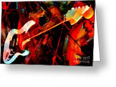 Art And Music Painting Greeting Card