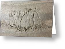 Art Created By Nature On Sand  Greeting Card