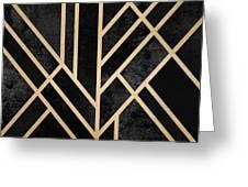 Art Deco Black Greeting Card
