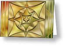 Art Deco Brass 2 Greeting Card