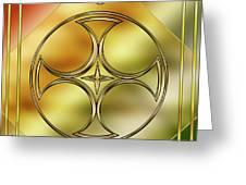Art Deco Brass 3 Greeting Card