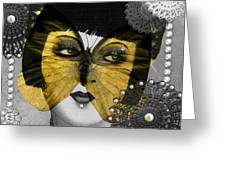 Art Deco Butterfly Woman Greeting Card