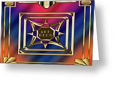 Art Deco Design 2020 C Greeting Card