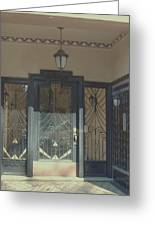 Art Deco Door Greeting Card