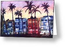 Art Deco Miami Greeting Card
