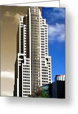 Art Deco Nbc Tower Greeting Card