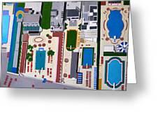 Art Deco Pools Greeting Card