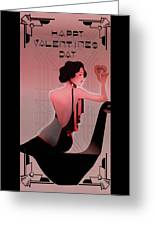 Art Deco Valentine Greeting Greeting Card by Jeff Burgess