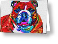 Art Dogportrait Greeting Card