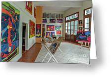 Art Gallery In Havana Greeting Card