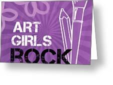 Art Girls Rock Greeting Card