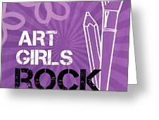 Art Girls Rock Greeting Card