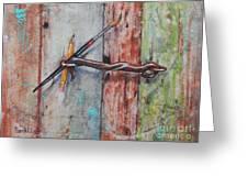 Art Hook Greeting Card