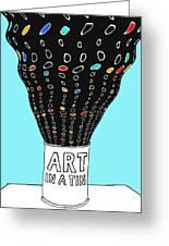 Art In A Tin Greeting Card