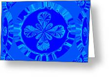 Art In Blue Greeting Card
