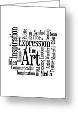 Art Inspiration Creativity Greeting Card