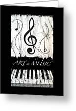 Art Is Music-music In Motion Greeting Card