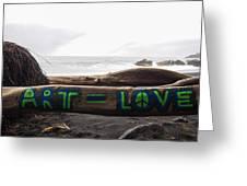 Art Love Greeting Card