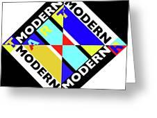Art Modern Greeting Card