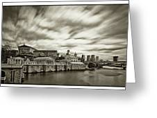 Art Museum Time Exposer Greeting Card by Jack Paolini