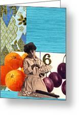 Art Nouveau Pie Maker Greeting Card by Marcia Masino