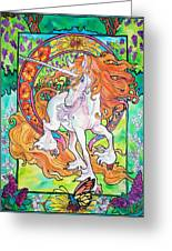 Art Nuevo Unicorn Greeting Card