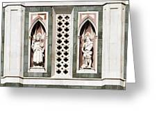 Art On Duomo In Florence Italy Greeting Card